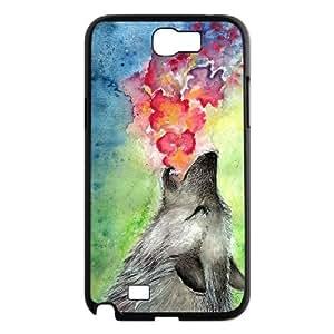 LSQDIY(R) Howling wolf Samsung Galaxy Note 2 N7100 Custom Case, High-quality Samsung Galaxy Note 2 N7100 Case Howling wolf
