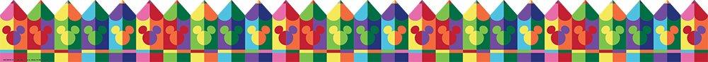 Eureka Disney Geo Mickey Mouse Pencil Bulletin Board Trim and Classroom Decoration for Teachers, 12pc, 3.25'' W x 37'' L