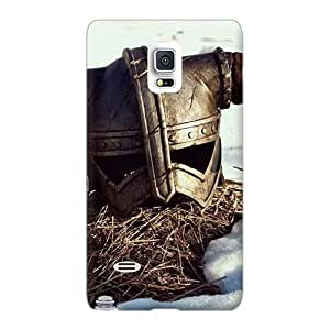 Protective Hard Phone Cover For Samsung Galaxy Note 4 (gNt3953wHpz) Customized Lifelike Skyrim Helmet Series