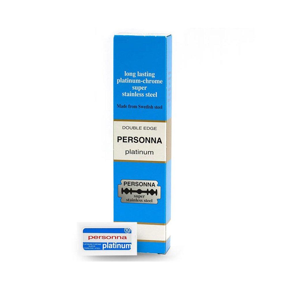 Personna Platinum - 100 Cuchillas De Afeitar Para Maquinilla De Afeitar