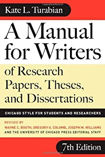 amazon com a manual for writers of research papers theses and rh amazon com Turabian Citation Turabian Cover Page Template