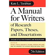 Kate turabian a manual for writers of term papers theses and.