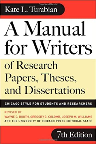 a manual for writers of term papers the ses and dissertations 6th edition