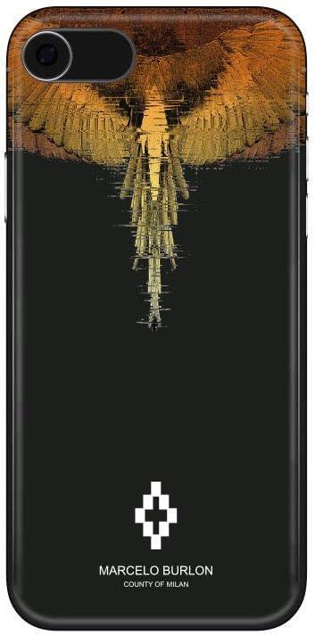 MARCELO BURLON COUNTY OF MILAN Cover/Custodia Compatibile con iPhone 8/7/6s/6 - MOD. Glitch - Custodia Burlon Originale - Rigida - Finitura Soft Touch ...