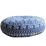A.B Crew Japanese Style Zafu Meditation Yoga Bolster Tatami Floor Round Cushion(Elephant,19.7'')