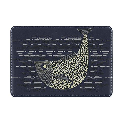 Copertina Del Passaporto Da Viaggio In Pelle Coosun Xilografia Per Pesca In Legno Per Una Tasca