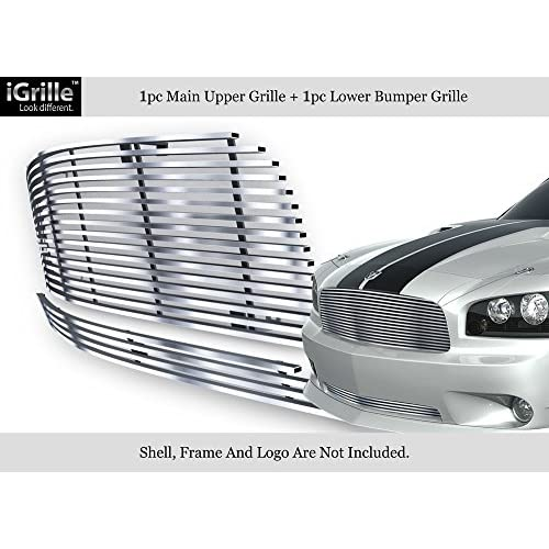 Nice 304 Stainless Steel Billet Grille Grill Combo Fits 05-10 Dodge Charger #D87889C for sale