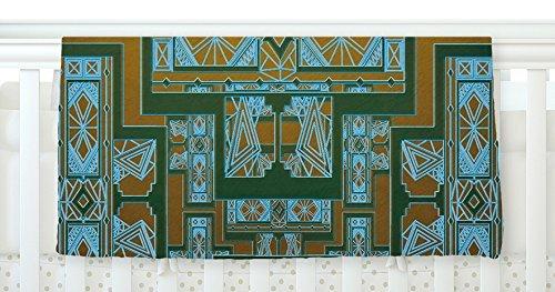 KESS InHouse Nika Martinez Golden Art Deco Green & Blue Fleece Baby Blanket 40 x 30 [並行輸入品]   B077ZVPY8N