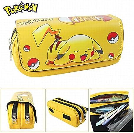 Estuches Material escolar Portatodo doble Pokemon Pikachu: Amazon.es: Oficina y papelería