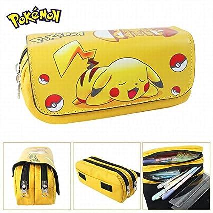 Estuches Material escolar Portatodo doble Pokemon Pikachu
