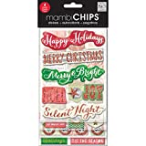 Me and My BIG Ideas CBVX-42 Mambi Chips Holiday Tags and Numbers Scrapbooking Supplies