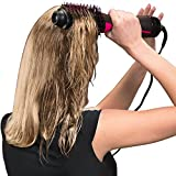 hot air styler and dryer - One Step Hair Dryer Volumizer Styler, ManKami Salon Hot Air Paddle Styling Brush Negative Ion Generator Hair Straightener Curler for All Hair Types