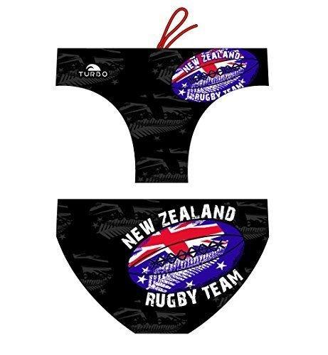 5deb9d51c777 Turbo - Bañador Rugby New Zealand de Waterpolo Competicion Natación y  Triatlón Patrón de Ajuste cómodo