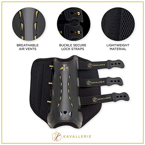 Dressage Boots for Horses by Kavallerie: Pro-K 3D Air-Mesh Horse Boots, Secure Leg Protection, Lightweight and Tough White & Black Dressage Sports Boots [Black] by Kavallerie (Image #3)