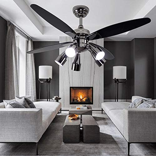 Modern Black Ceiling Fan