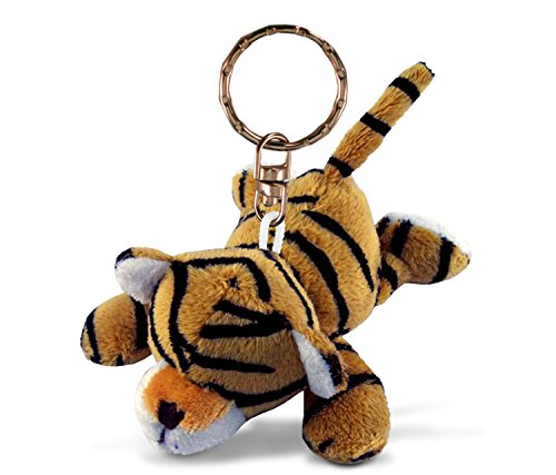 (Puzzled Tiger Plush Keychain)