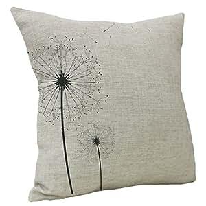 WarmTrendyHouse Square Cotton Linen Pillow Covers Autumn Defoliation Prints Pattern Pillow Case Home Sofa Decorative Throw Cushion Covers 18 x 18 inch (Defoliation 04)