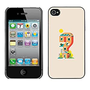 Eason Shop / Hard Slim Snap-On Case Cover Shell - Mario Game House - For iPhone 4 / 4S