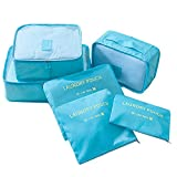 6 Set Travel Storage Bags Multi-functional Clothing Sorting Packages,Waterproof Travel Packing Pouches, Luggage Organizer Pouch(random color)