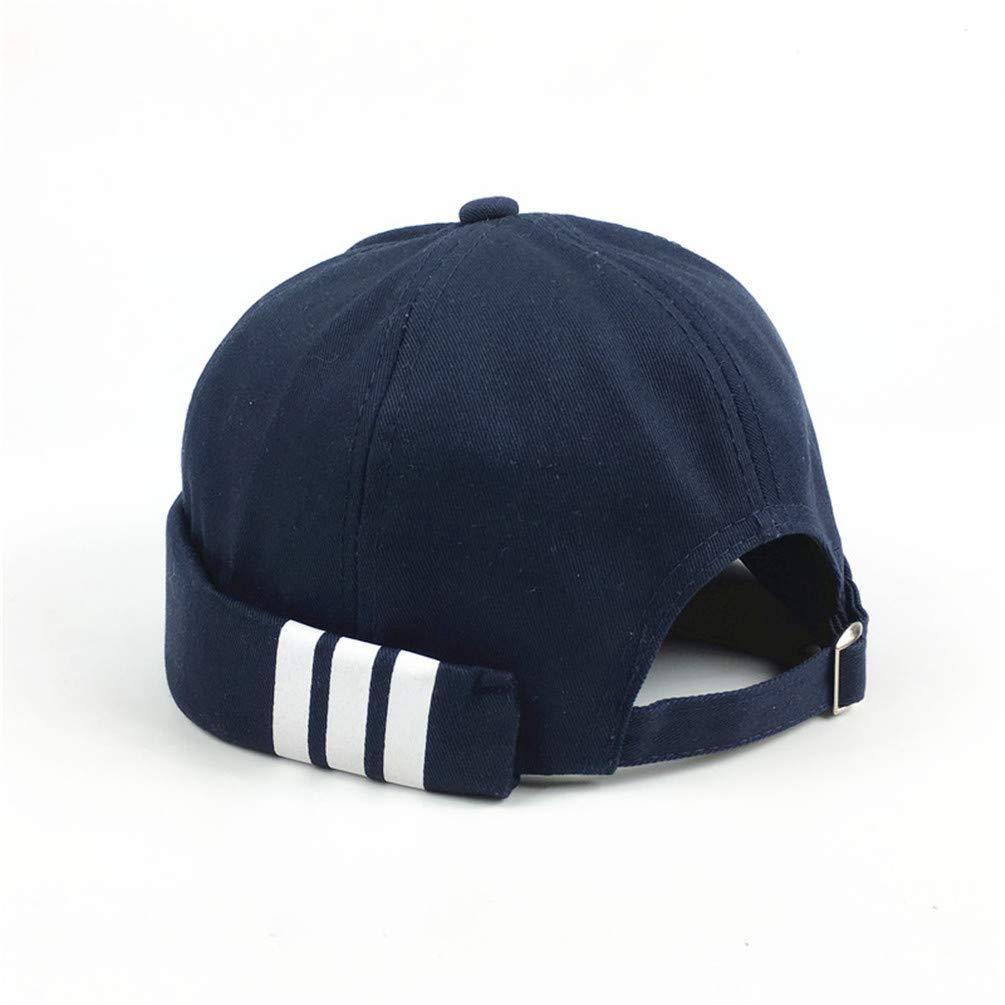 Mens Summer Brimless Skullies Cap Vintage Unique Street Portable Docker Hats Multipurpose Miki Beanie Hat