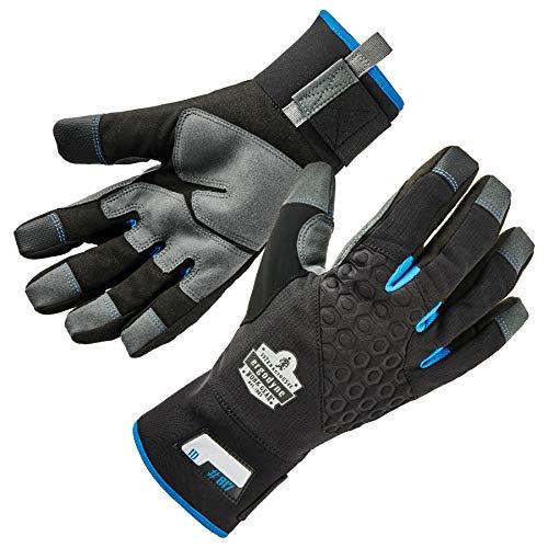 Ergodyne ProFlex 817 Reinforced Thermal Winter Work Gloves, Touchscreen Capable, Black, Large