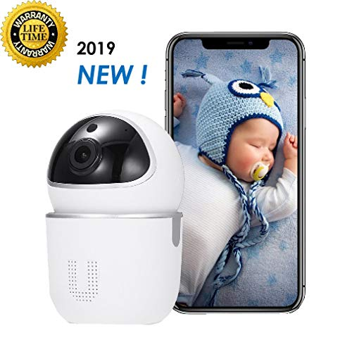 Video Baby Monitor, Wireless Security Baby Pet Camera Monitor System, FHD Home WiFi Security Sound Motion Detection Audio Camera with Vibrating Sound Alert, Night Vision, TalkBack, Long Battery Life