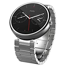 Motorola Moto 360 - Light Metal, 23mm, Smart Watch ***Discontinued by Manufacturer***