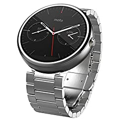 Motorola 1.56-Inch Moto 360 Smartwatch 23mm for Android and iphone - Light Metal (Discontinued by Manufacturer)