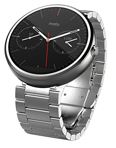 Motorola 1.56-Inch Moto 360 Smartwatch 23mm for Android and iphone - Light Metal (Discontinued by Manufacturer) by Motorola