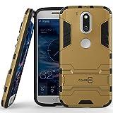 Moto G4 Case, Moto G4 Plus Case, Moto G (4th Gen.) case CoverON [Shadow Armor Series] Hard Slim Hybrid Kickstand Phone Cover for Motorola Moto G4 Plus Moto G4 Moto G (4th Gen.)- Gold