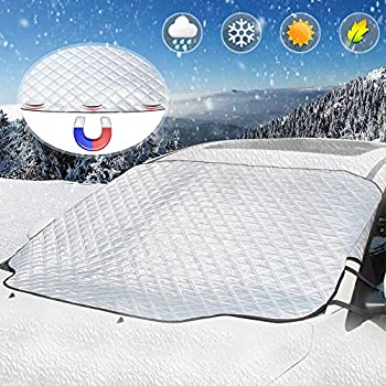 Fits Most Car SUV Ice and Frost In All Seasons Car Windshield Snow Cover /& Sun Shade Cover Tree Sap Dust Fallen Leaves Protects Car from Sun 57 X 39 Van or Automobile Truck Pollen Snow