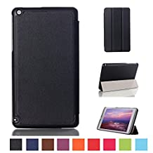Kepuch Custer NVIDIA Shield Tablet 8 Tablet K1 Case - Ultra-thin Custer PU Leather Case Shell Hard Case Cover for NVIDIA Shield Tablet 8 Tablet K1 - Black