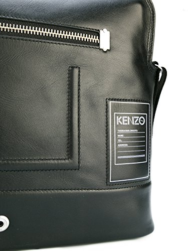 KENZO HOMME F755SK107L4299 NOIR CUIR MALLETTE