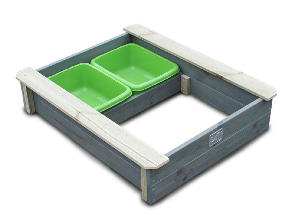 EXIT Aksent Sandkasten 77 x 94cm incl. 2 Wassergruben Schalen 52050105