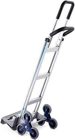 Carretilla De Aluminio Plegable Gruesa Escalera Plegable Capacidad De La Carretilla De Mano 400 LBS con Diseño De 3 Ruedas: Amazon.es: Hogar