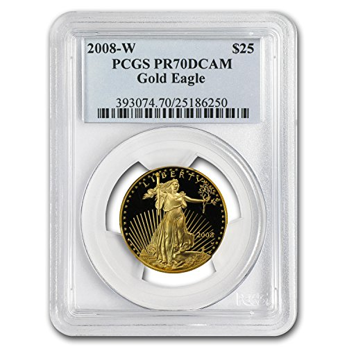 2008 W 1/2 oz Proof Gold American Eagle PR-70 PCGS Gold PR-70 PCGS