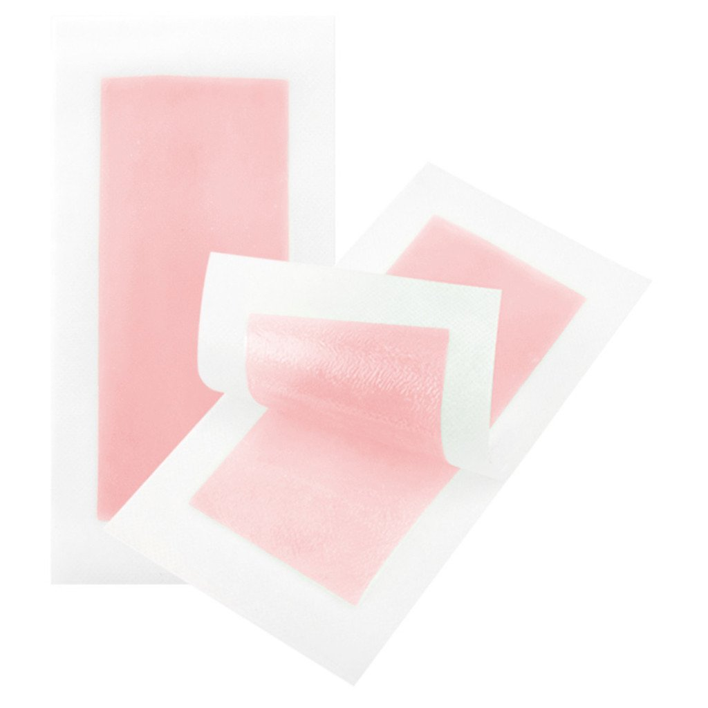 Waxing Strips, 10pcs Professional Paper Waxing Hair Removal for Facial, Body, Leg,Normal Epilating Strips Beauty Tool - Pink