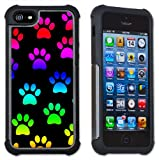 Paw Prints - Maximum Protection Case / Cover with Cushioned Corners for iPhone 5 & iPhone 5S