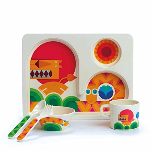 Dylan Kendall Home 35452 Lion and Snake Toddler Eating Set, - Kendall Bowl