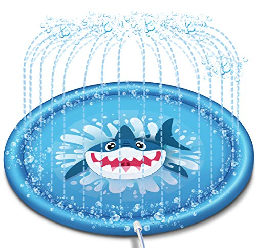 "JOYIN Sprinkler & Splash Play Mat, 68"" Outdoor Water Sprinkler Toys for Kids Toddlers Splash Pad"
