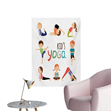 Amazon.com: Anzhutwelve Yoga Poster Wall Decor Kids in ...