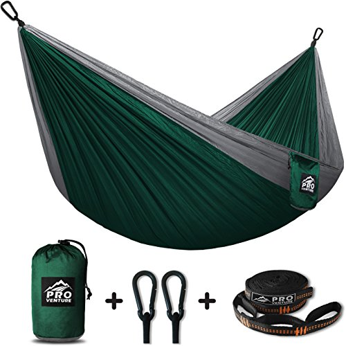 Proventure Single Camping Hammock & FREE Tree Straps - Lightweight and Compact - For Backpacking, the Beach, Back Yard, Travel, or Any Adventure!
