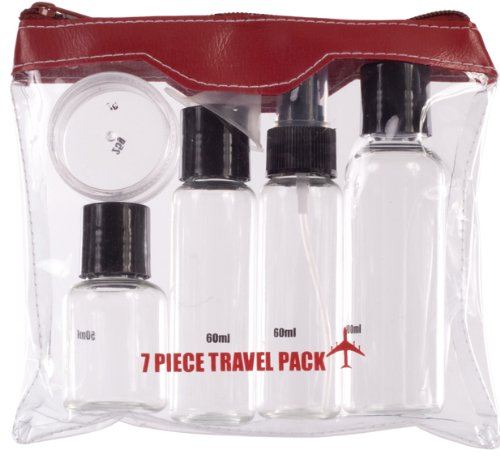 Travel bottles kit - 7 pieces