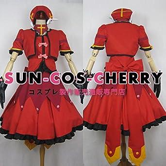 【サイズ選択可】コスプレ衣装 I-0250 魔法少女リリカルなのはA's ヴィータ 戦闘服 女性Mサイズ