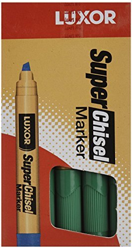 Marks-A-Lot Jumbo Chisel Tip Washable Marker, Black (24158), 6 Packs