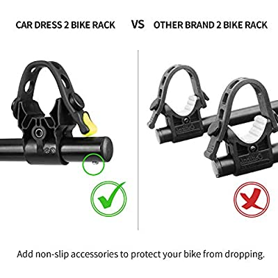 CAR DRESS 2 Bike Hitch Rack, Bike Carrier Quick Release 2 Inch Receiver Heavy Duty Bicycle Carrier Racks for Cars,SUV, Minivans: Automotive