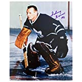 Autographed Johnny Bower 8x10 Action Photo - Toronto Maple Leafs