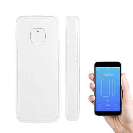 Vbestlife Alarma de Emergencia Antirrobo para Casa Sensor de Alarma WiFi de la Ventana y la Puerta para la Seguridad del Hogar Control Remoto ...