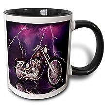 3dRose 3dRose Mug Picturing Harley-Davidson® Motorcycle (mug_8332_4), , Black/White