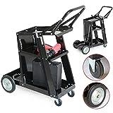 Yaheetech 3-Tier Welding Cart MIG Welder Welding Cart Universal W/Tank Storage Black